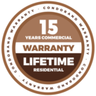 LOGOS WARRANTY CONDORAND-02_15 años_lifetime_400x400